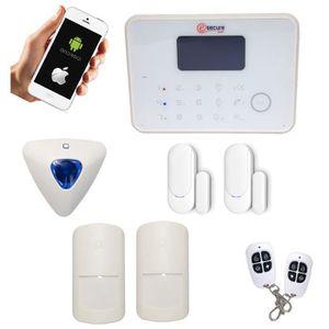 alarme maison sans fil gsm rtc achat vente alarme maison sans fil gsm rtc pas cher cdiscount. Black Bedroom Furniture Sets. Home Design Ideas
