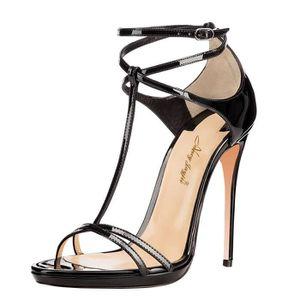 SANDALE - NU-PIEDS Nancy Jayjii: Sandales noirs à talons hauts,avec b
