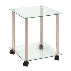 DESSERTE - BILLOT Table desserte en tube d'acier aluminium avec 2...
