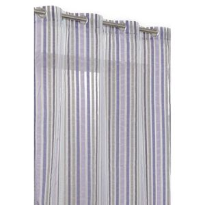 Rideau voilage a rayures violet achat vente rideau - Rideaux grande hauteur 300 ...