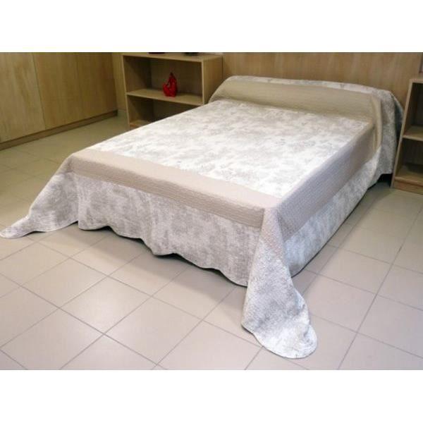 couvre lit boutis matelass 220x240 cm toile de juy. Black Bedroom Furniture Sets. Home Design Ideas