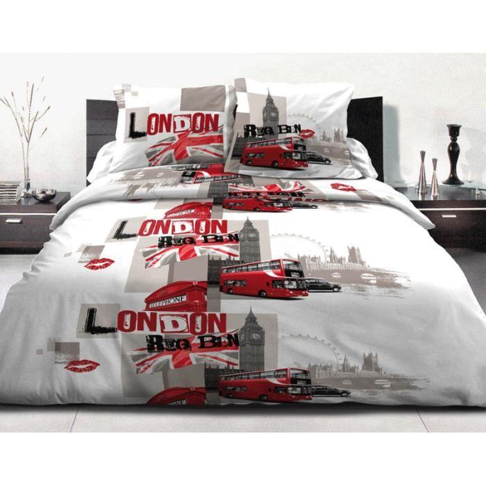 housse de couette 240x260 2 taies coton 57 fils achat vente parure de couette cadeaux de. Black Bedroom Furniture Sets. Home Design Ideas