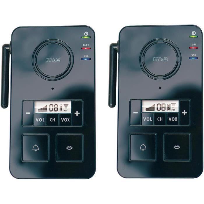 Interphone sans fil fs 2 1 noir m e gmbh achat vente for Interphone sans fil interieur maison