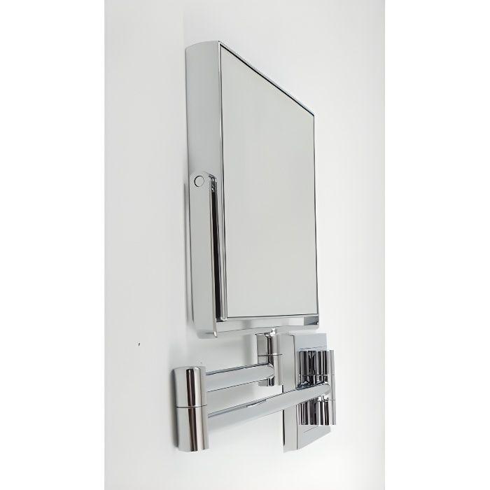 Miroir grossissant double face carr e x5 sur achat for Miroir extensible