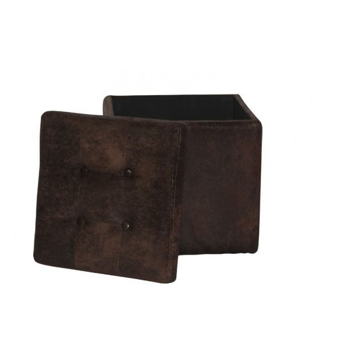 pouf coffre manhattan microfibre vintage 35 x achat vente pouf poire cdiscount. Black Bedroom Furniture Sets. Home Design Ideas