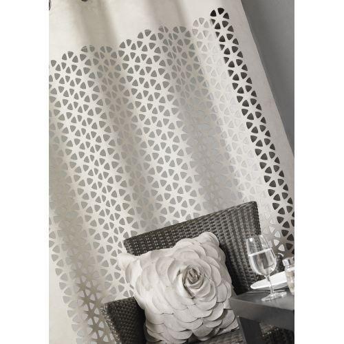 rideau ameublement su dine d coup lin 140x260cm achat vente rideau voilage cdiscount. Black Bedroom Furniture Sets. Home Design Ideas