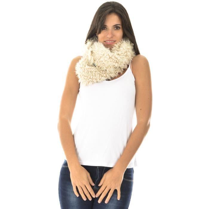 echarpe tube effet doux beige achat vente echarpe foulard 3662865250227 cdiscount. Black Bedroom Furniture Sets. Home Design Ideas