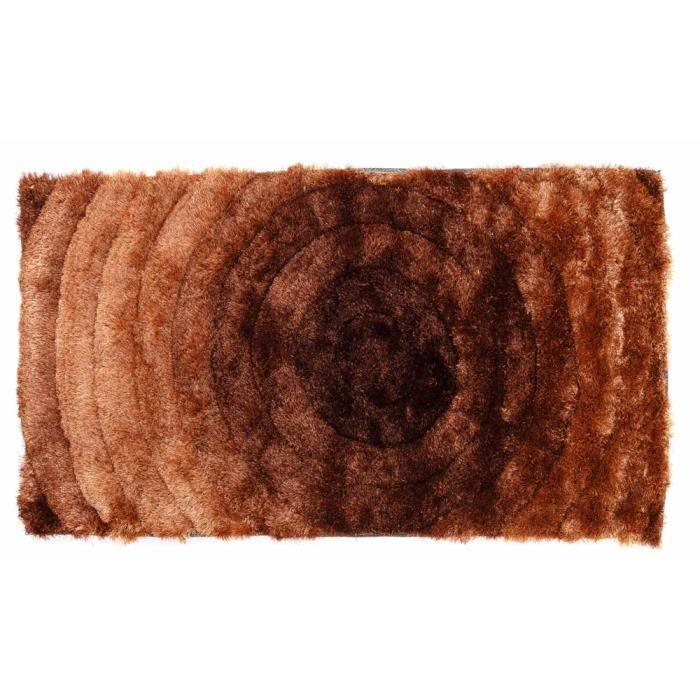 tapis shaggy coloris marron 160 cm x 230 cm achat vente tapis les soldes sur cdiscount. Black Bedroom Furniture Sets. Home Design Ideas