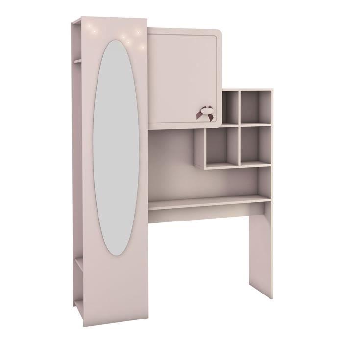 pont de lit en panneaux de particules h199 x l140 x p40. Black Bedroom Furniture Sets. Home Design Ideas