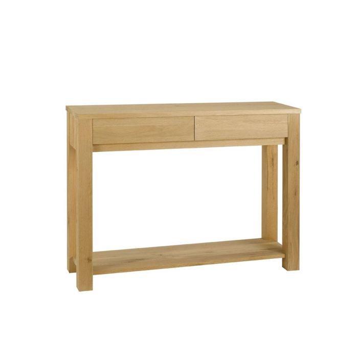 console avec 2 tiroirs et 1 plateau en ch ne ma achat vente console console avec 2 tiroirs. Black Bedroom Furniture Sets. Home Design Ideas