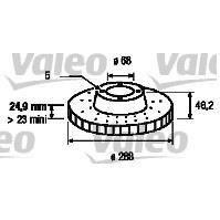 valeo disque de frein unitaire val197222 achat vente disques de frein valeo 1 disque frein. Black Bedroom Furniture Sets. Home Design Ideas