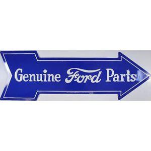 plaque ford parts fleche 69x22 cm publicitaire hot rod. Black Bedroom Furniture Sets. Home Design Ideas