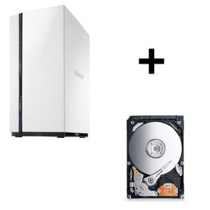 SERVEUR STOCKAGE - NAS  Pack QNAP NAS 2 baies TS-228 1Go + Toshiba Disque