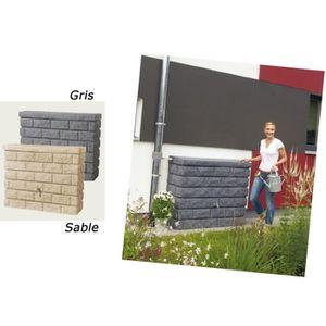 Kit récupérateur d'eau mur Rocky gris 400L Graf