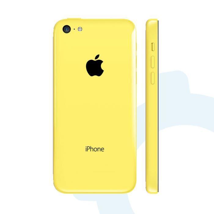 coque de remplacement arri re pour iphone 5c jaune. Black Bedroom Furniture Sets. Home Design Ideas