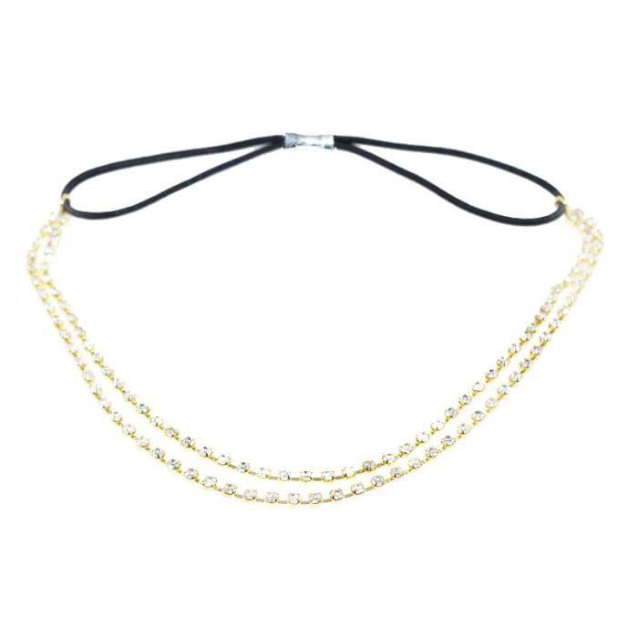 bijoux de front mariage ceremonie strass dore achat vente bandeau serre t te bijoux de. Black Bedroom Furniture Sets. Home Design Ideas