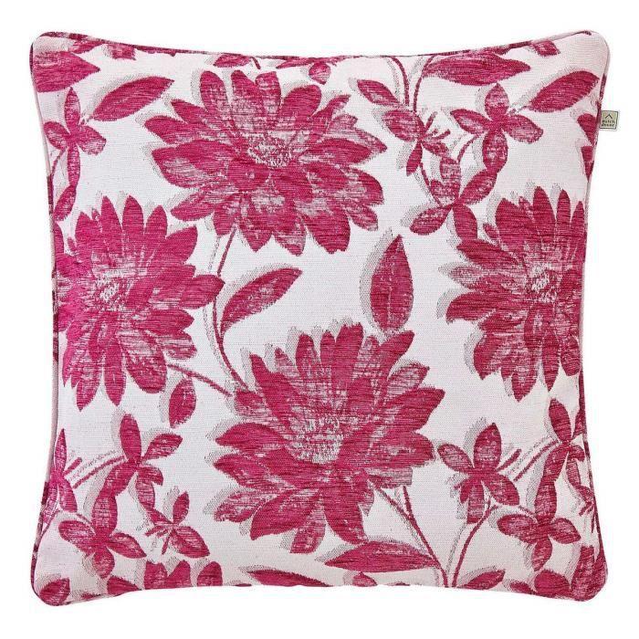 housse de coussin casale 50x50 cm fleur violet achat vente housse de coussin cdiscount. Black Bedroom Furniture Sets. Home Design Ideas