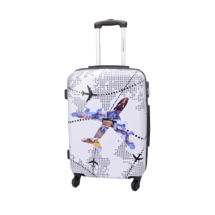 valise rigide avion 4 roues 60 cm blanc achat vente valise bagage 3563772049228 cdiscount. Black Bedroom Furniture Sets. Home Design Ideas