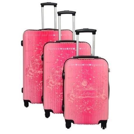 lot de 3 valises lollipops rose achat vente set de valises lot de 3 valises lollipops. Black Bedroom Furniture Sets. Home Design Ideas