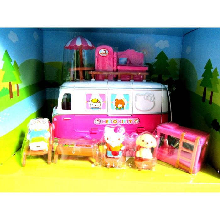 Camping car rose hello kitty achat vente maison poup e - Maison de poupee hello kitty ...