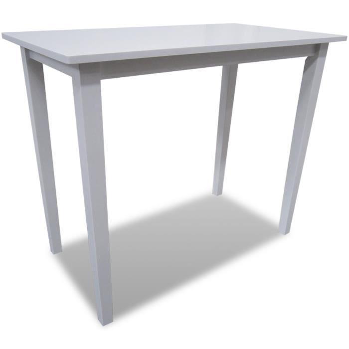 Blanche table de cuisine et de salle manger bar en bois for Table cuisine blanche
