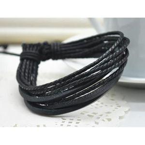 bracelet cuir ado achat vente pas cher les soldes. Black Bedroom Furniture Sets. Home Design Ideas