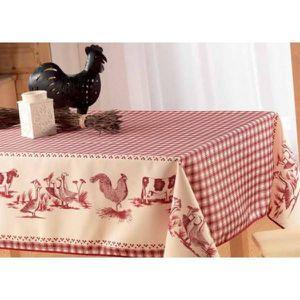 Coq et poule de decoration achat vente coq et poule de for Nappe pour table basse