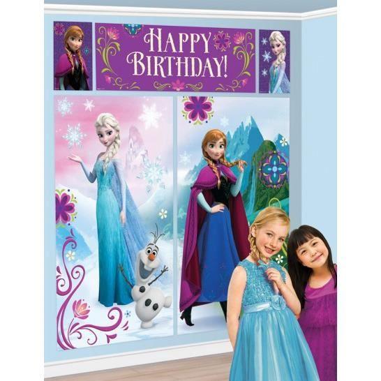D corations anniversaire la reine des neiges achat for Decoration porte reine des neiges