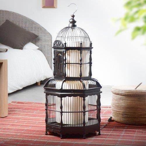 lampe cage oiseaux noir achat vente lampe cage oiseaux noir bois soldes d hiver d s. Black Bedroom Furniture Sets. Home Design Ideas