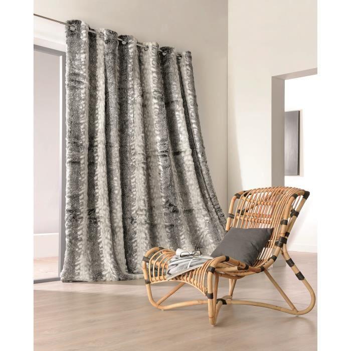 rideau pais en fourrure loup marron 230 x 250 cm achat. Black Bedroom Furniture Sets. Home Design Ideas