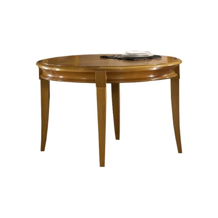 Table ronde ch ne 4 pieds sabre achat vente table for Table ronde en chene
