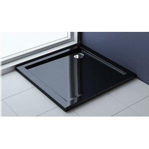 receveur de douche carr e en acrylique noir 80 x 8 achat. Black Bedroom Furniture Sets. Home Design Ideas