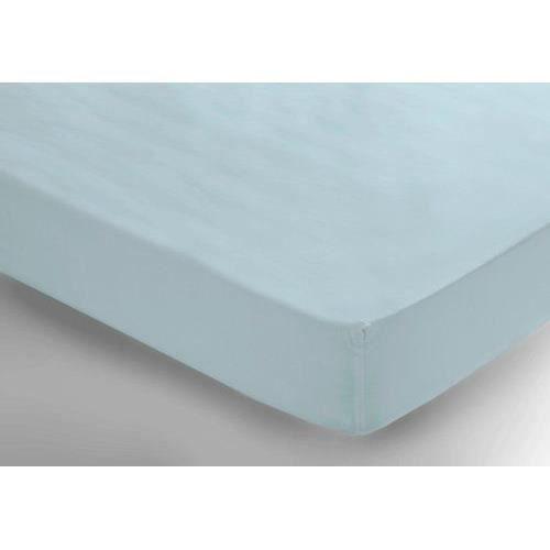 belledorm drap housse percale 2 personnes bleu vert achat vente drap hous. Black Bedroom Furniture Sets. Home Design Ideas