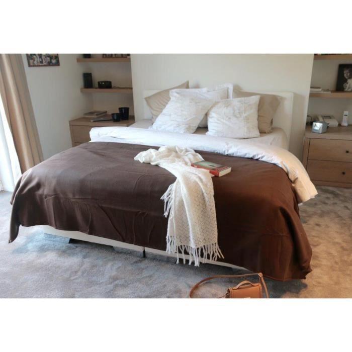 couv polaire 350g m2 chocolat 240x260cm achat vente. Black Bedroom Furniture Sets. Home Design Ideas