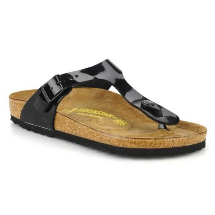sandales gizeh birkenstock femme birko flor noir vernis pointure 35 achat vente sandale. Black Bedroom Furniture Sets. Home Design Ideas