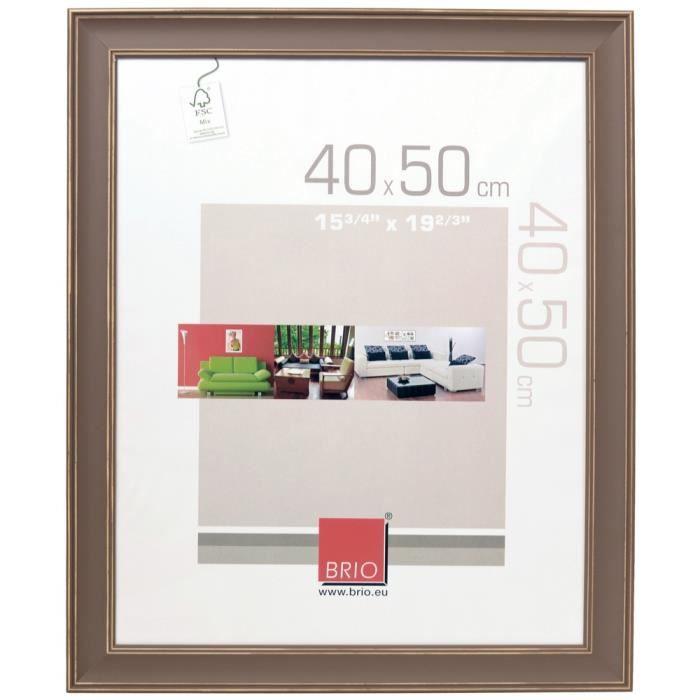 Brio cadre photo constance taupe 60x80 cm achat vente cadre photo bois soldes d hiver d s - Cadre photo 60x80 ...