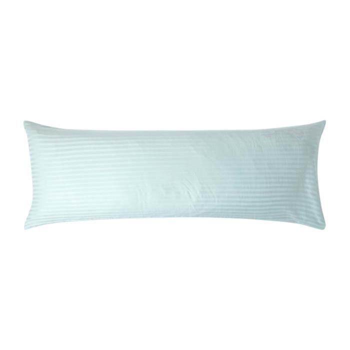 taie sp cial oreiller de corps bleu 50 x 140 cm achat vente traversin taie oreiller de corps. Black Bedroom Furniture Sets. Home Design Ideas