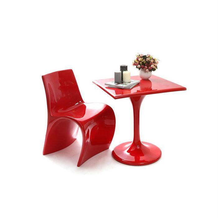 Table d 39 appoint design rouge luna achat vente table de - Table d appoint cuisine ...