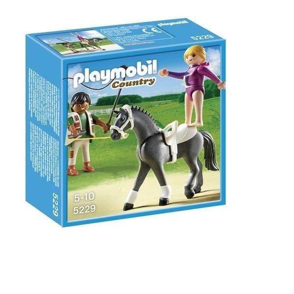 Playmobil 5229 dresseur de chevaux et voltigeuse achat - Playmobil haras ...