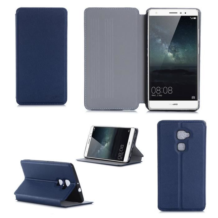 Etui coque huawei mate s 4g bleu housse pochette achat for Housse huawei mate 10 pro