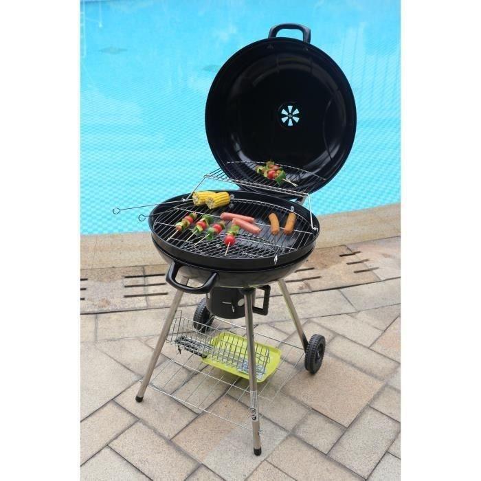 barbecue charbon et foyer dim 56 7 cm achat vente barbecue barbecue charbon soldes. Black Bedroom Furniture Sets. Home Design Ideas