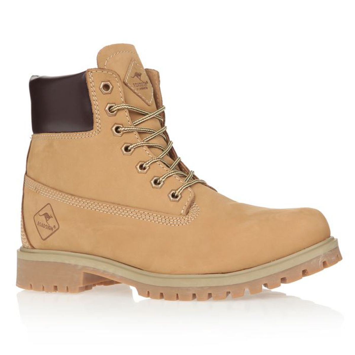 ROADSIGN Bottines Road Chaussures Homme homme Miel  Achat / Vente