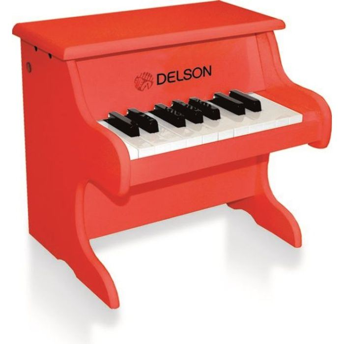 delson piano bebe rouge 18 touches pas cher achat vente piano cdiscount. Black Bedroom Furniture Sets. Home Design Ideas