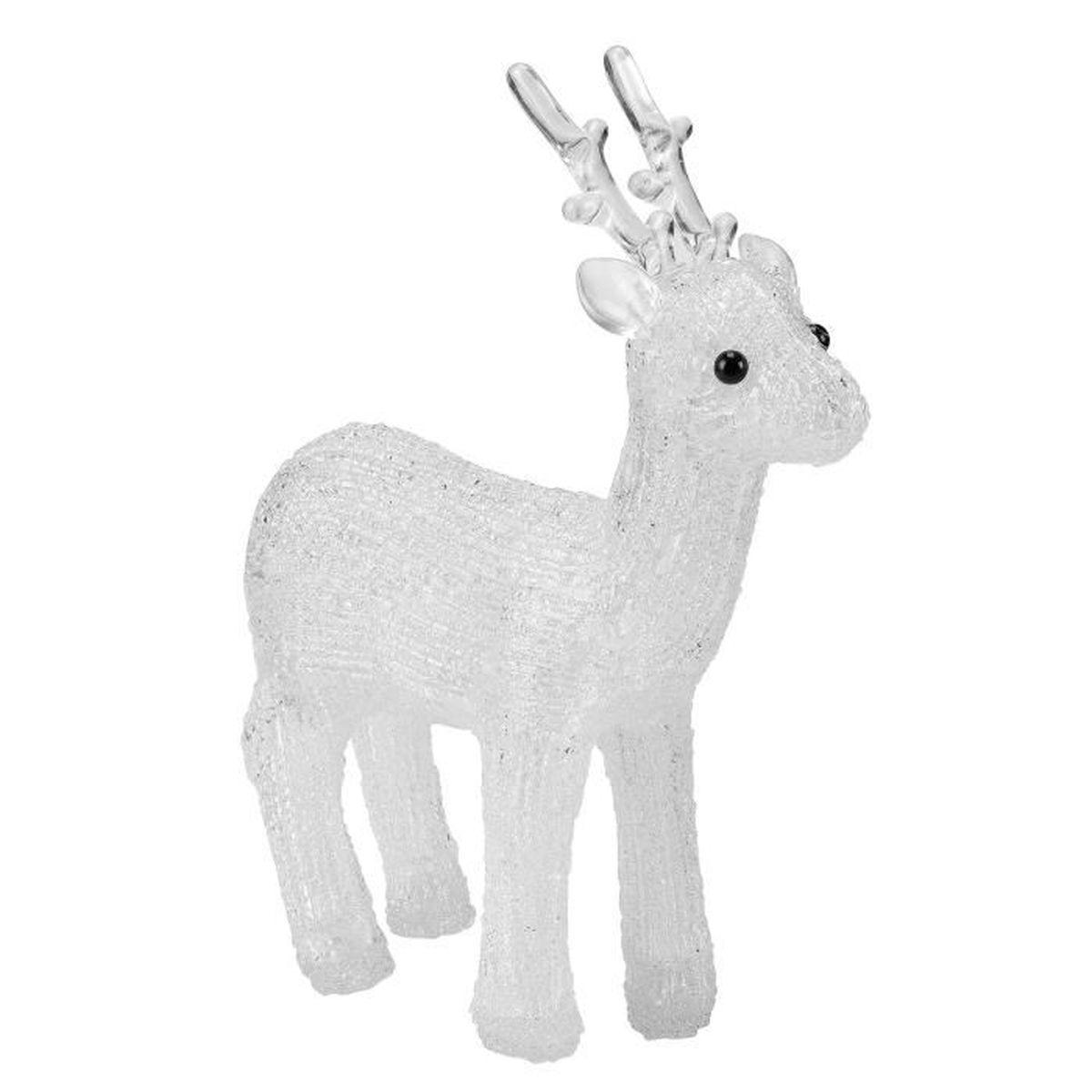 Renne led d co de no l personnage illumin en for Decoration fenetre renne
