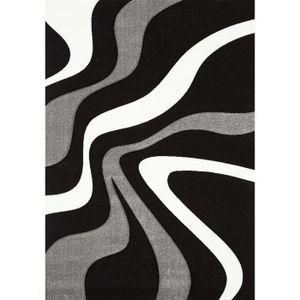 TAPIS DIAMOND VAGUES Tapis de salon 160x230 cm noir, gri