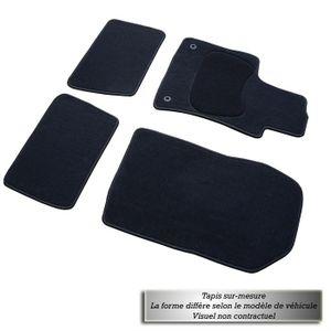 Tapis sur mesure Tufté Citroen C5 depuis 2008- 2 tapis avants et 2 tapis arri?res-Moquette tuftée- Talonnette moquette soudée- Finition surjetée-Fixations universelle.