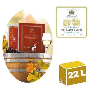 VIN BLANC CUBI 22L Vin de France Cuvée Blanc 11,5° Chamverme