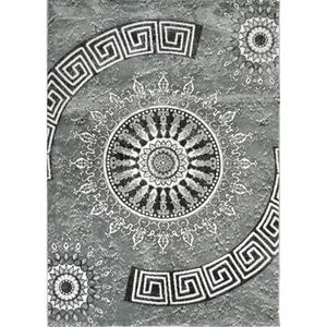 TAPIS BAHIA Tapis de salon 160x230 cm gris et noir