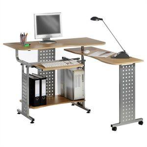 Bureau informatique avec rangement achat vente bureau - Bureau avec tablette coulissante ...