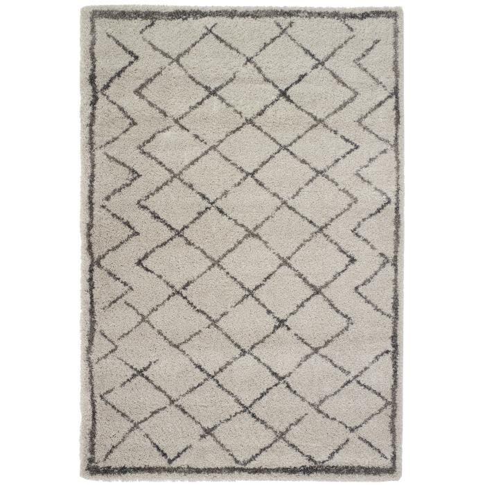 berber tapis de salon 160x230 cm beige et gris achat vente tapis 100 polypropyl ne. Black Bedroom Furniture Sets. Home Design Ideas